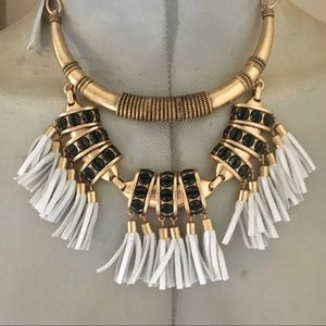 Stella Dot Tribal leather necklace sample New